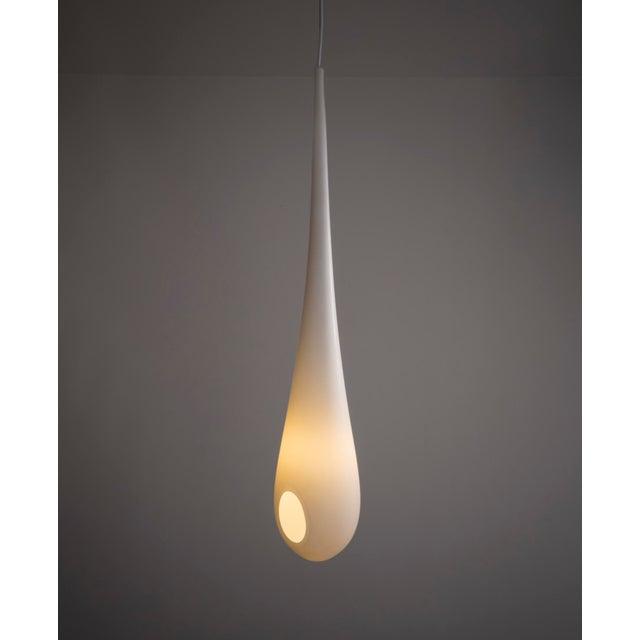 """Contemporary Unique """"Milk Drop"""" illuminated sculpture For Sale - Image 3 of 6"""