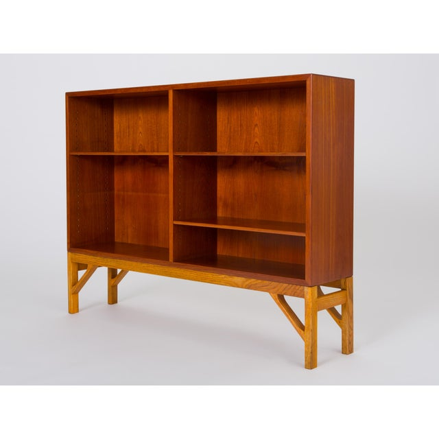 C. M. Madsens Danish Modern Bookcase in Teak and Oak by Børge Mogensen For Sale - Image 4 of 12