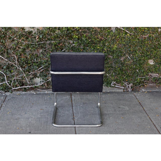 Modern Chrome Base Chair For Sale - Image 5 of 7