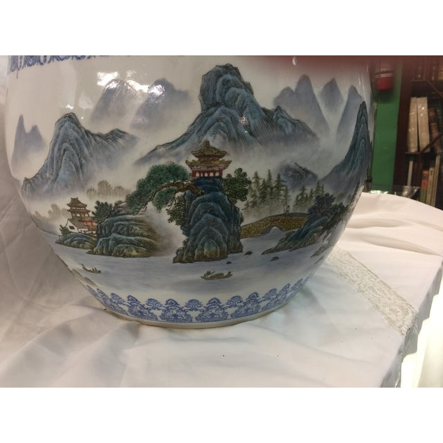 1950s Chinese Fish Bowl Jardiniere For Sale - Image 5 of 10