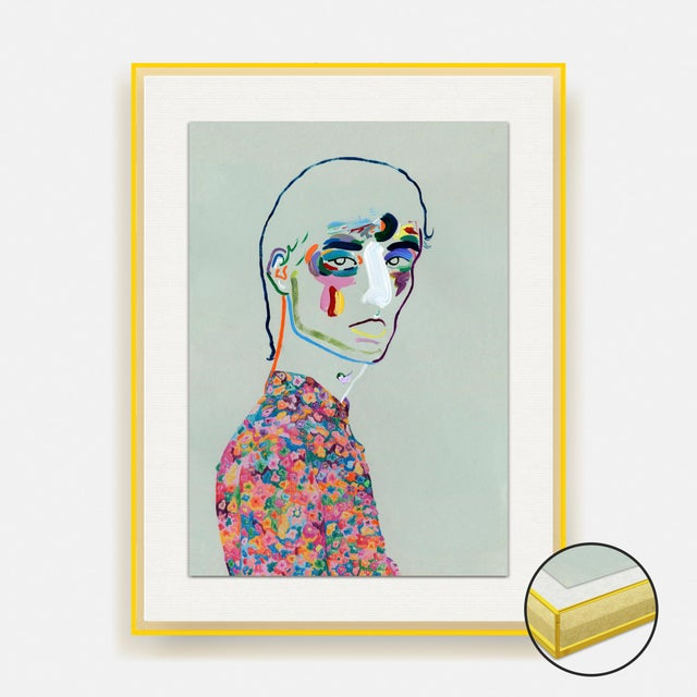 Not Yet Made - Made To Order Dries van Noten SS20 by Robson Stannard in Light Yellow Acrylic Frame, XS Art Print For Sale - Image 5 of 5