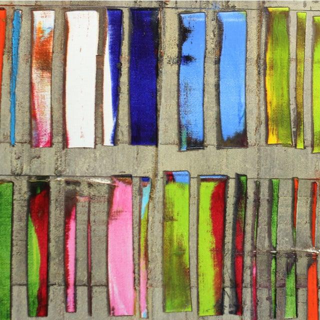 """Happy Dark Grey"" Original Oil Painting For Sale - Image 4 of 8"