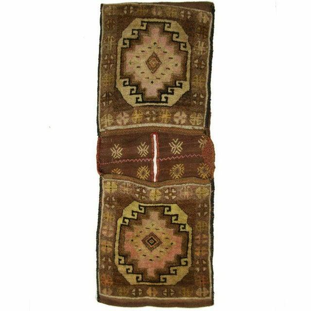 Vintage Turkish Carpet Saddlebag - 1'6'' X 3'9'' - Image 1 of 3