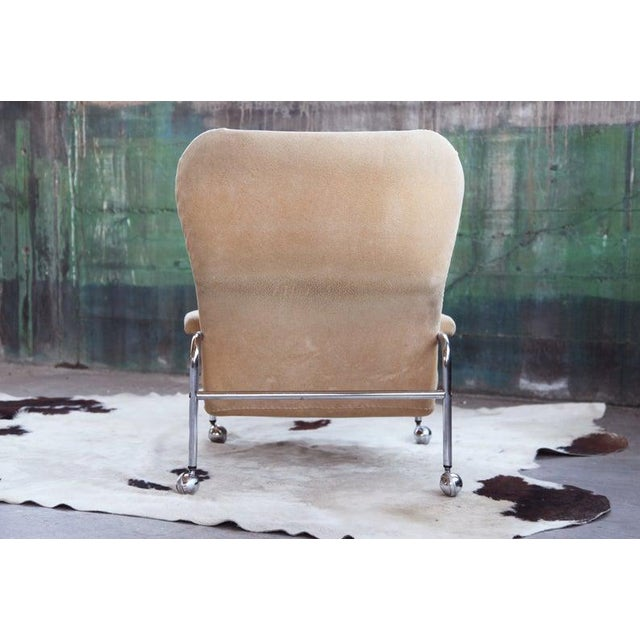 Metal Rare Mid Century Vintage Swedish Lounge Chair by Scapa Rydaholm, 1970s For Sale - Image 7 of 10