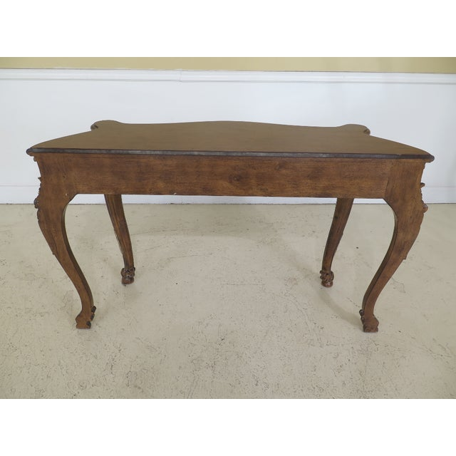 Modern Italian Carved Console Table For Sale - Image 9 of 11