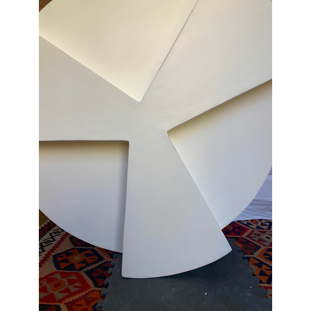 Minimalist Smooth Plaster Round Chunky Coffee Table For Sale - Image 4 of 6