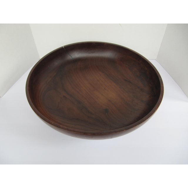 Vintage Brazilian Wood Bowl For Sale - Image 6 of 8