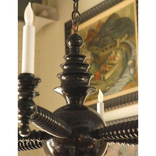 Paul Marra Paul Marra Design Spool Chandelier For Sale - Image 4 of 7