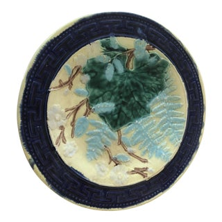 Late 19th Century French Majolica Plate For Sale