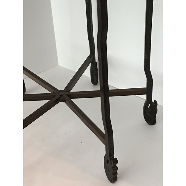 Gold Scalloped Chinese Brass Collapsible Tray Table For Sale - Image 8 of 11