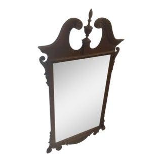 Antique Hand Carved Mahogany Mirror