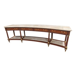 20th Century Regency Marble Top Console Table For Sale