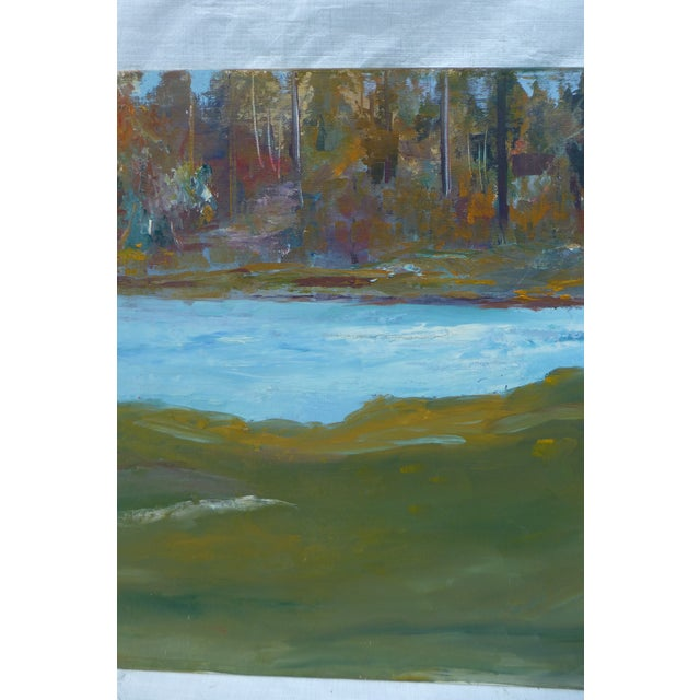 Abstract Impressionist Painting by h.l. Musgrave - Image 4 of 6
