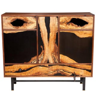 Spalted Maple Face Cabinet by Don Howell, circa 2010 For Sale