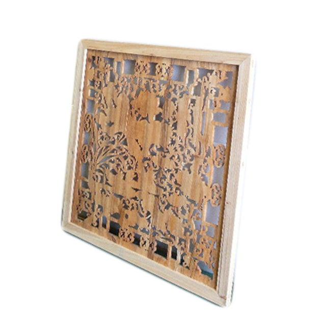 Lotus & Birds Wood Wall Plaque - Image 4 of 5