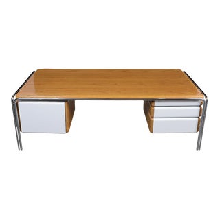 Modern Floating Lacquered Desk For Sale