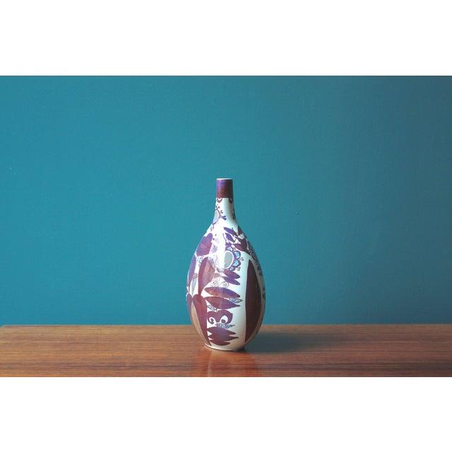 Kari Christensen Faience Bottle Vase by Kari Christensen for Royal Copenhagen For Sale - Image 4 of 7