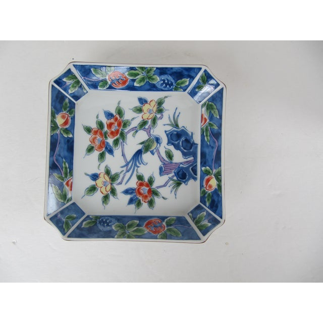 Chinoiserie Flower Catchall For Sale - Image 4 of 4