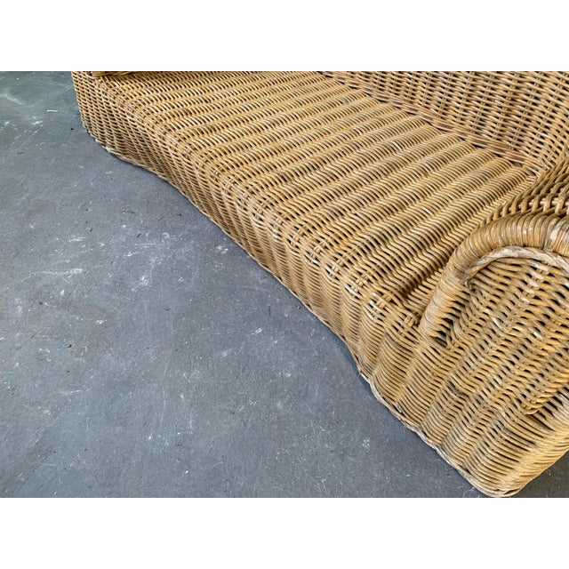 Sculptural Wicker Sofa in the Manner of Michael Taylor For Sale - Image 6 of 11