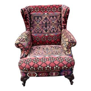 21st Century Vintage Kilim Cover Armchair For Sale