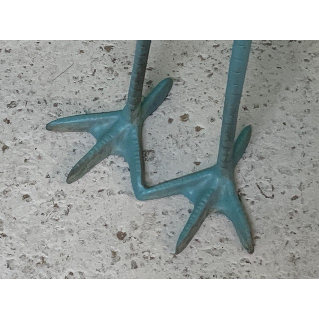 1980s Large Steel Egret Bird Statues, a Pair For Sale - Image 5 of 6
