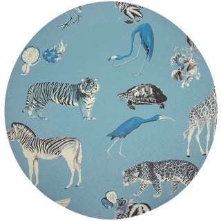 """Nicolette Mayer Exotix Stamford 16"""" Round Pebble Placemats, Set of 4 For Sale"""