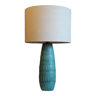 Unusual Studio Textured Ceramic Table Lamp. For Sale
