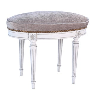 Oval Louis XVI Stool For Sale