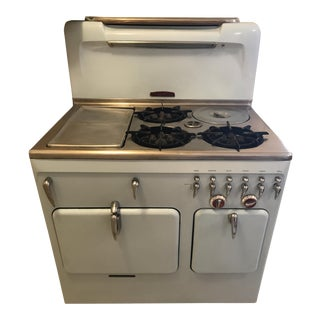 Vintage Chambers Model 90c Baby Blue Range Oven