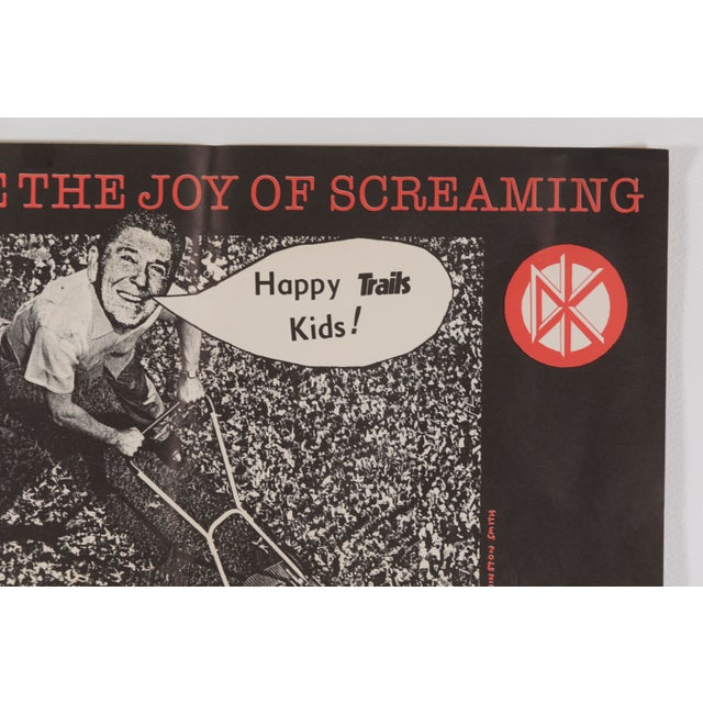 """American 1982 Dead Kennedys """"The Sound of Hell Too Close to Home"""" Promotional Poster Ronald Reagan For Sale - Image 3 of 11"""