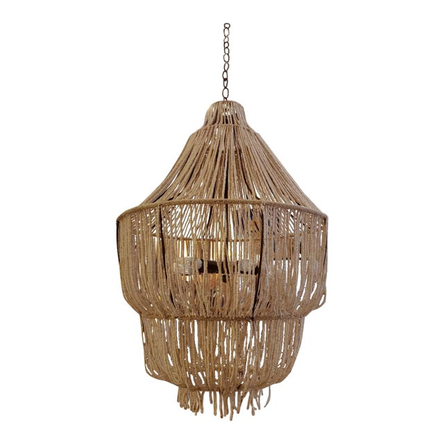 Made Goods CoCo Bead Aida Chandelier For Sale