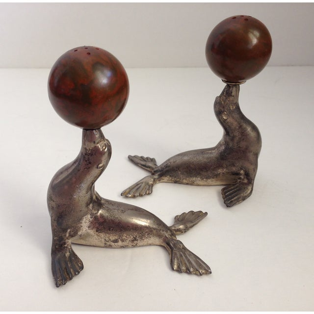 Antique Bakelite Seal Salt & Pepper Shakers - Pair - Image 7 of 9