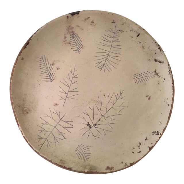 Rare Original Sascha Brastoff Unfired Modernist Snowflake Plate Artist's Collection For Sale