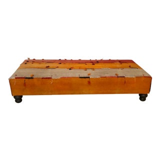 Custom Ottoman Made From Vintage Turkish Rug For Sale