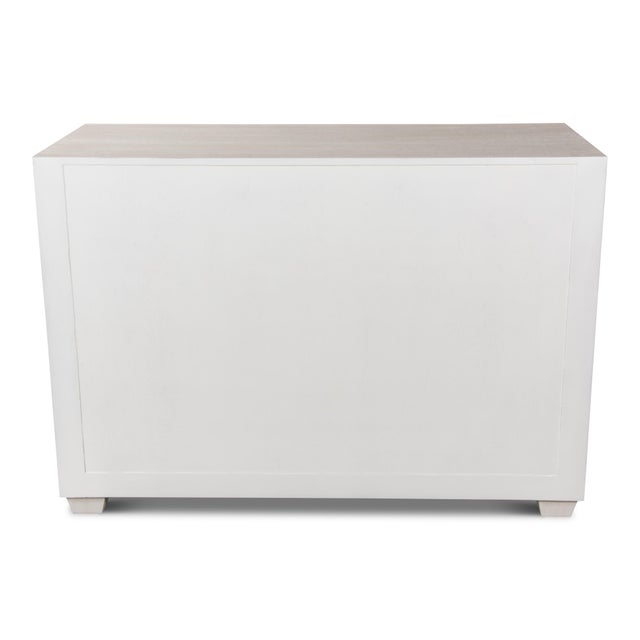 White Sarreid Mesa Chest, Working White For Sale - Image 8 of 13