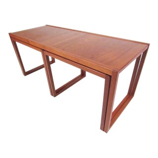 Set of Danish Modern Teak Nesting Tables For Sale