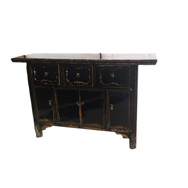 Asian Dark Blue Altar Sideboard For Sale - Image 3 of 9