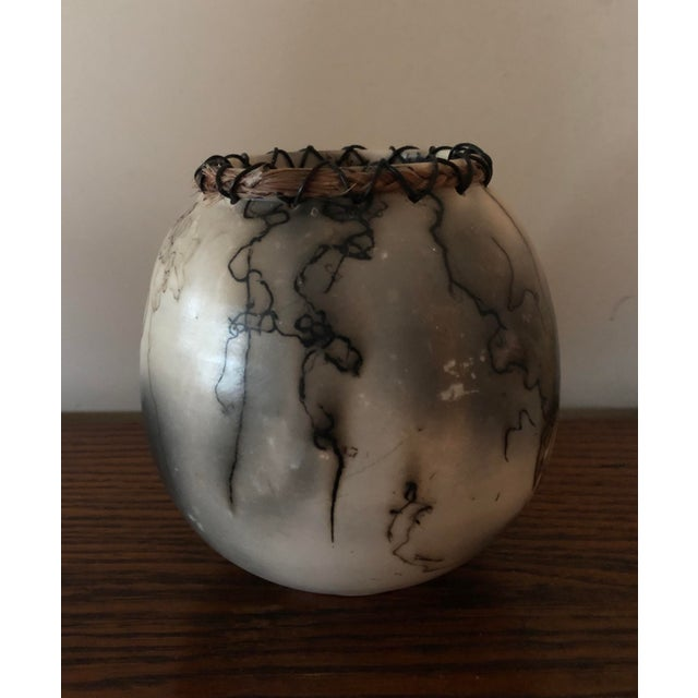 Horse Hair Pottery With Lacing For Sale - Image 4 of 7