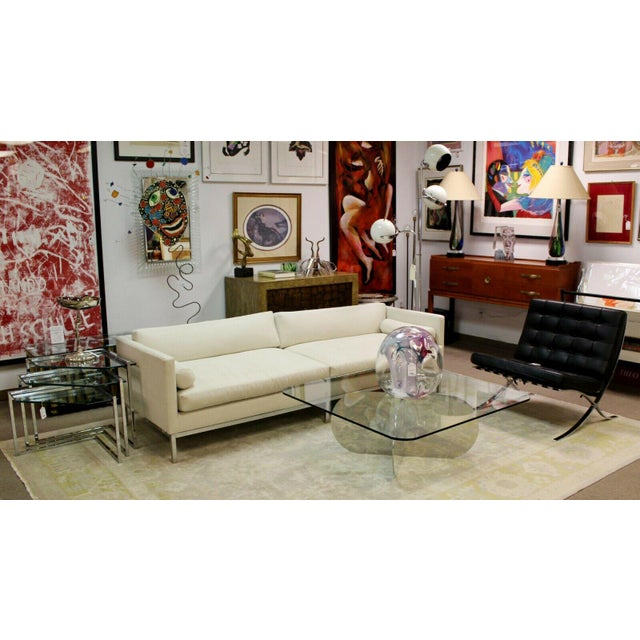 Mid Century Modern B&b Italia Chrome Base Sofa Italy 1970s Baughman Era For Sale - Image 9 of 10