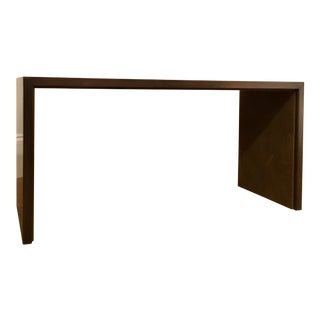 Henredon Modern Bronze and Suede Bench For Sale