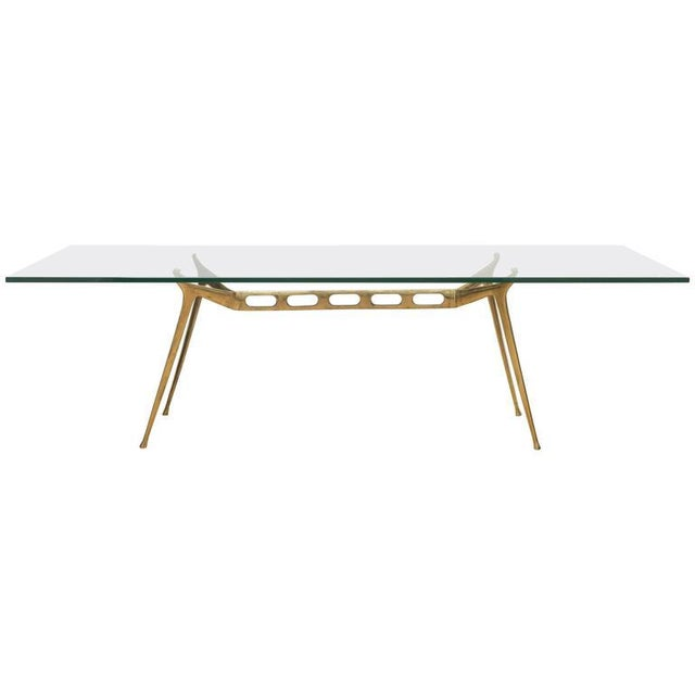 Gold Italian Brass Cocktail Table For Sale - Image 8 of 8