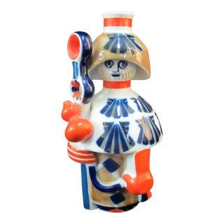 Sargadelos Santiago Saint James Pilgrim Figurine Bottle Vase Spain For Sale