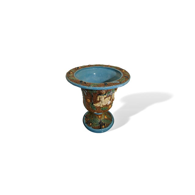 Victorian 19th Century Majolica Urn by William Bronwfield For Sale - Image 3 of 6