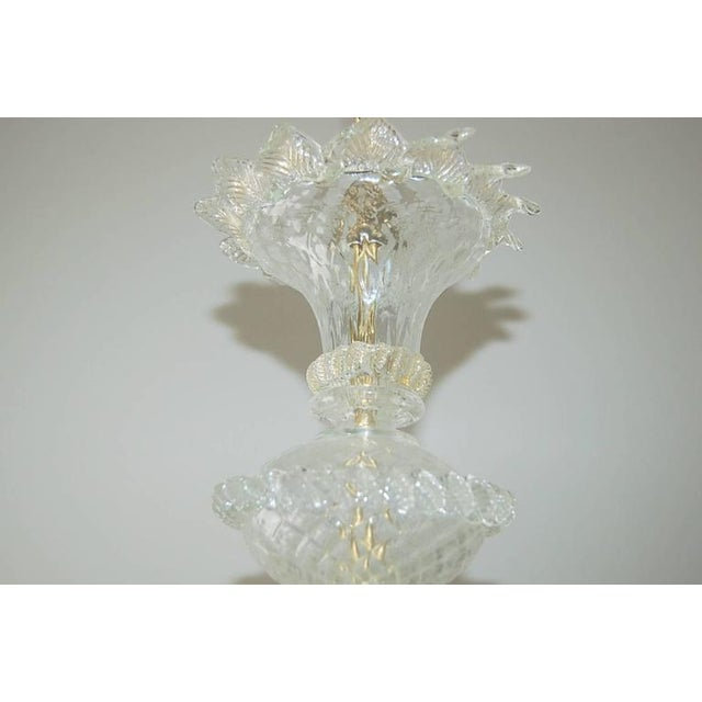Crystal Vintage Murano Glass Champagne Gold Chandelier For Sale - Image 7 of 11