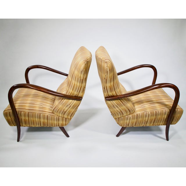 Italian Mid-Century High Back Chairs - A Pair - Image 8 of 10