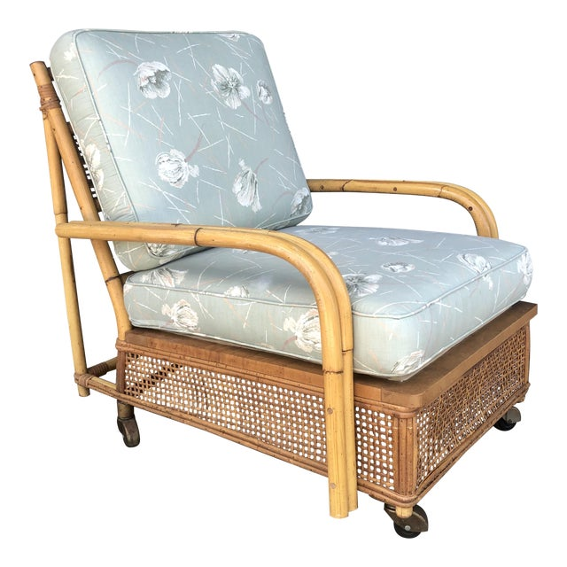 Mid Century Ficks Reed Rattan Lounge Chair For Sale