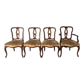 1960s French Country Kindel Furniture Belvedere Dining Chairs - Set of 4