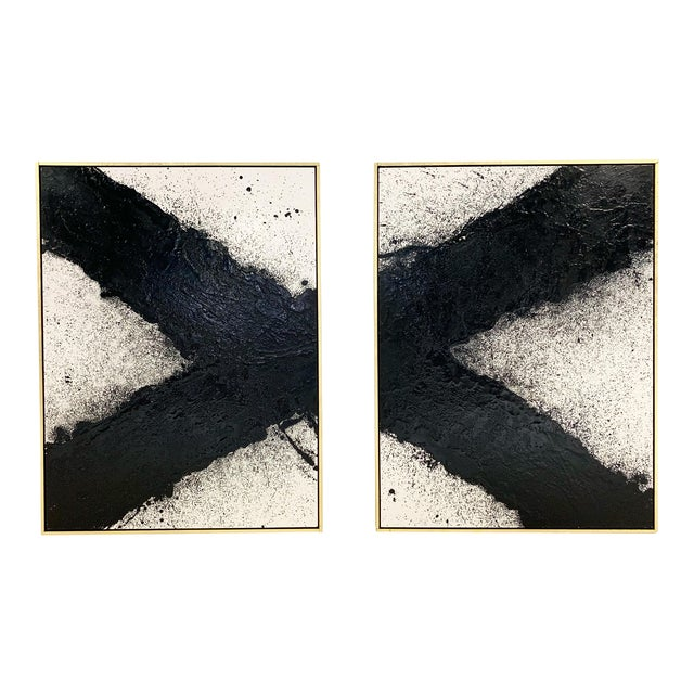 "John O'Hara. Tar, 10. Two Panel Work. 37.25x49.25"" For Sale"