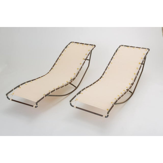 Pair of Waikiki Rocking Lounge Chairs by Walter Lamb for Brown Jordan For Sale - Image 13 of 13