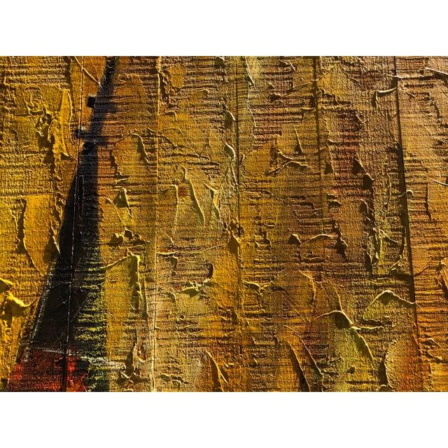 Mid-Century Modern Mid-Century Regatta Painting on Plank Boards For Sale - Image 3 of 7